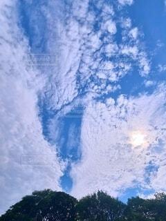 青空と雲の写真の写真・画像素材[4624166]
