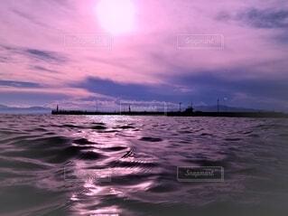 青空と雲と海の写真・画像素材[4665234]