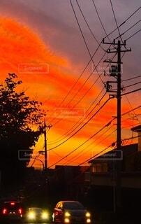 ある日の夕焼けの写真・画像素材[4681250]