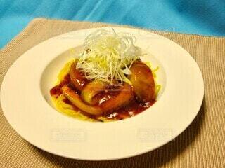 麻婆茄子のあんかけ麺の写真・画像素材[4736904]