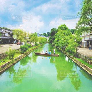 倉敷川舟流しの写真・画像素材[4575817]