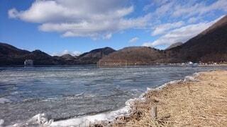 冬の榛名湖の写真・画像素材[4599114]