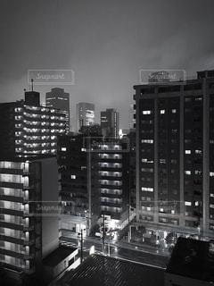 夜の街の景色の写真・画像素材[781831]