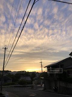 街と夕日の写真・画像素材[4594399]