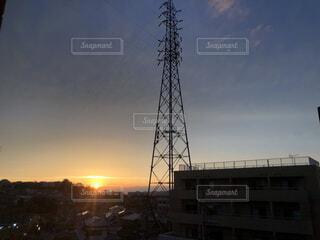 空と高い塔の写真・画像素材[4594398]