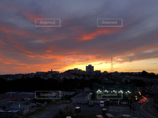 夕暮れの景色の写真・画像素材[4617741]