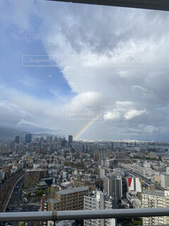 都市の眺め、虹の写真・画像素材[4607305]