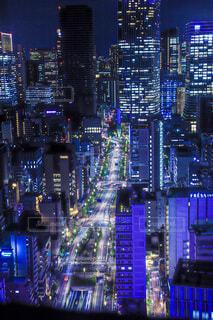 夜を照らす街の写真・画像素材[4722221]