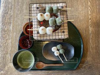 日本の茶菓子の写真・画像素材[4621958]
