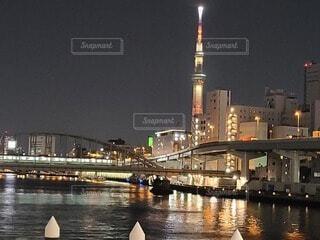 隅田川とスカイツリーの写真・画像素材[4622477]