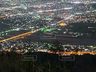 山の上から見た街の夜景2の写真・画像素材[4622612]