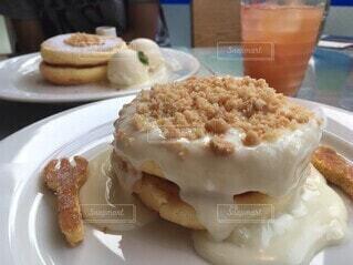 レインボーパンケーキの写真・画像素材[4650476]