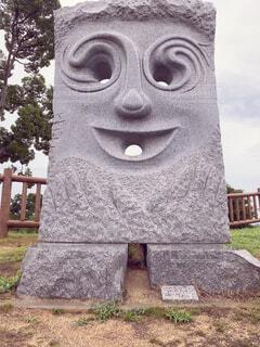 公園の石の展示物の写真・画像素材[4721598]