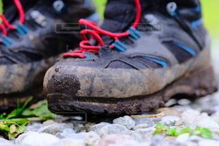 下山後の登山靴の写真・画像素材[4684133]