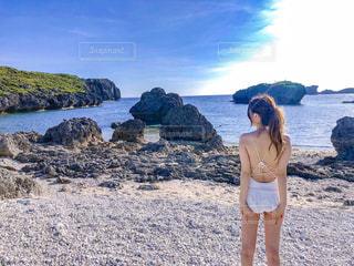 宮古島のビーチにての写真・画像素材[1177672]