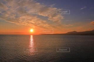余市町から見た朝日の写真・画像素材[4648483]
