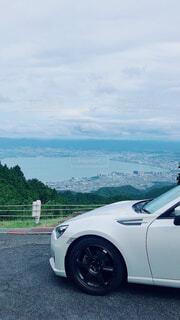 琵琶湖とBRZの写真・画像素材[4644406]