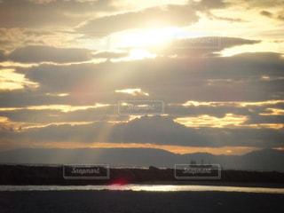 日の入り風景の写真・画像素材[213220]