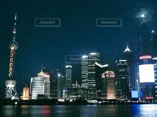 魔都 上海の夜の写真・画像素材[4655224]