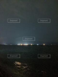 夜の海の写真・画像素材[4800876]