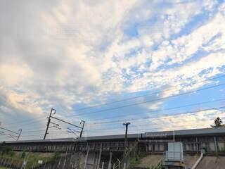 線路と青空の写真・画像素材[4662723]