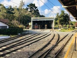 古い鉄道の写真・画像素材[4800453]