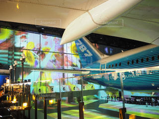 空港の大型飛行機の写真・画像素材[2504373]