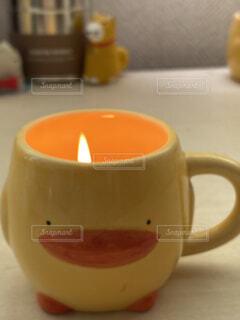 あひるのコーヒーカップの写真・画像素材[3682444]