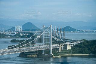 倉敷のホテルから眺む瀬戸大橋の写真・画像素材[4670056]