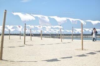 砂浜のティーシャツアートの写真・画像素材[4673676]