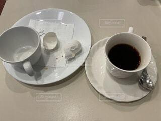 食後のコーヒーの写真・画像素材[4675970]