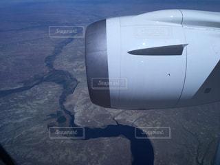 アメリカ上空 機内の写真・画像素材[208273]