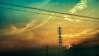 夕日の写真・画像素材[4688523]