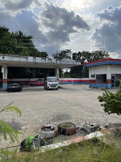 Old Gas Station in Thailandの写真・画像素材[4748887]