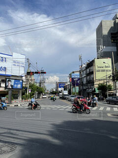 Charoen Krung road in Bangkokの写真・画像素材[4834159]