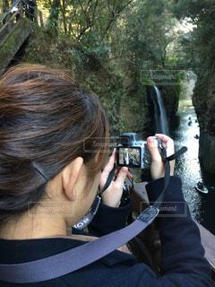 カメラ女子の写真・画像素材[300817]