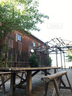 木製ベンチの写真・画像素材[713289]