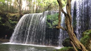 鍋ヶ滝はダイナミックな滝で大好きです。の写真・画像素材[734308]