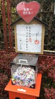 京都でお散歩をしていたらおみくじを見付けました。の写真・画像素材[744448]