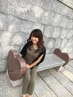 かわいいベンチを見つけました♡^ ^♡ - No.759700
