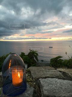 海に沈む夕陽!素敵でした!の写真・画像素材[791826]
