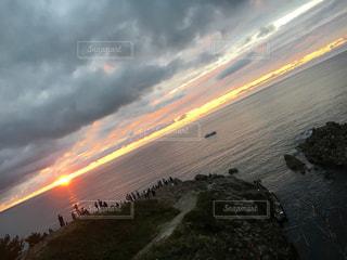 福井県!東尋坊!夕陽!海!の写真・画像素材[791896]