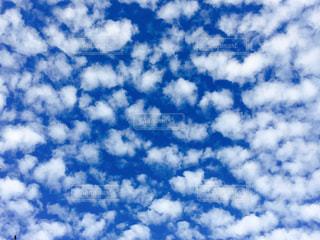 青い空には雲のグループの写真・画像素材[1099249]