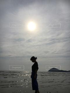 水面と私!の写真・画像素材[1265003]