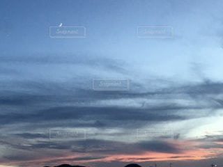 夕暮れと月と星!の写真・画像素材[1387056]