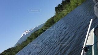 釣りボート 岩木山 ブラックバスの写真・画像素材[4691143]