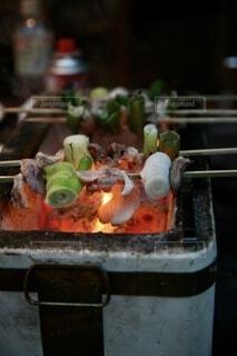 炭焼き串焼きネギまBBQ串焼きデイナーの写真・画像素材[4701043]
