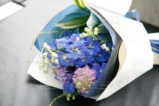 ブルーの花束の写真・画像素材[4744063]