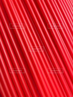 赤いストロー 斜め 大量の写真・画像素材[4770471]