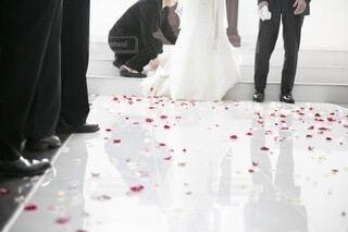 結婚式の退場シーンの写真・画像素材[4693088]